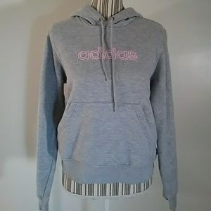 Adidas gray pullover sweatshirt hoodie size M